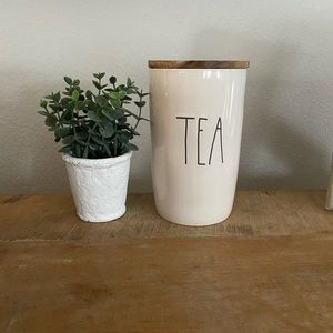 Rae Dunn Tea Canister Cellar with Wooden Lid